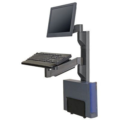 Innovative 8326 19 Vertical Computer Wall Mounting Track System