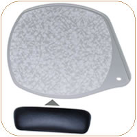 WorkRite 2120-25 Clip-On Mouse Pad Palm Support