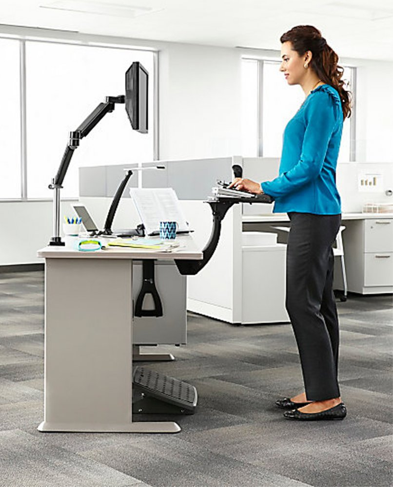 3m Akt180le Adjustable Under Desk Mount Ergonomic Keyboard