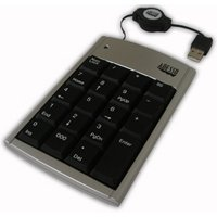 Adesso AKP-150 - 19 Key Numeric Keypad with Retractable Cord