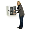 Cable Management System of Anthro TAB20SS/PW Secure 20 Unit Tablet Charging Cabinet