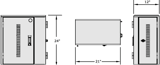 Technical Drawing for Anthro TAB20SS/PW Secure 20 Unit Tablet Charging Cabinet