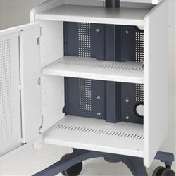 Anthro ZCS01CG Cabinet Shelf in Cool Grey Metal