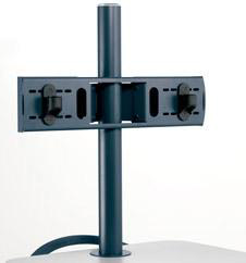 Anthro ZPMDSB Dual Flat Panel Monitor Mount in Slate Blue