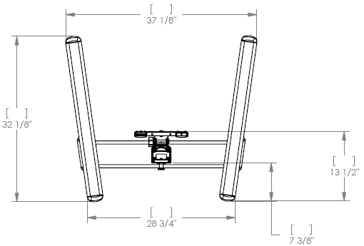 Technical Drawing for MFCUS Universal Flat Panel Display Cart