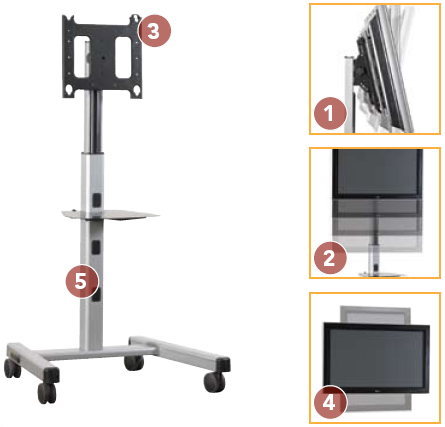 Chief MFCUB Universal Flat Panel Mobile Cart for 30 to 55 inch Displays