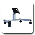 Chief MFQUB or MFQUS Medium Confidence Monitor Cart for 30 to 55 inch Displays