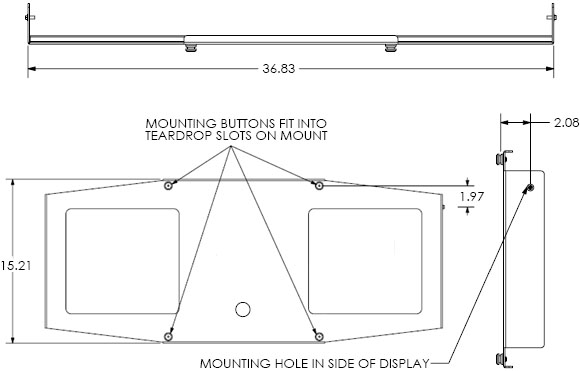 Technical Drawing for Chief PSB-2020 Mounting Bracket