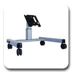 Chief MFQ6000B or MFQ6000S Medium Confidence Monitor Cart for 30 to 55 inch Displays
