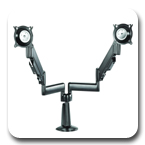 Chief KCY220B or KCY220S Desk Mount Height Adjustable Dual Monitor Arm