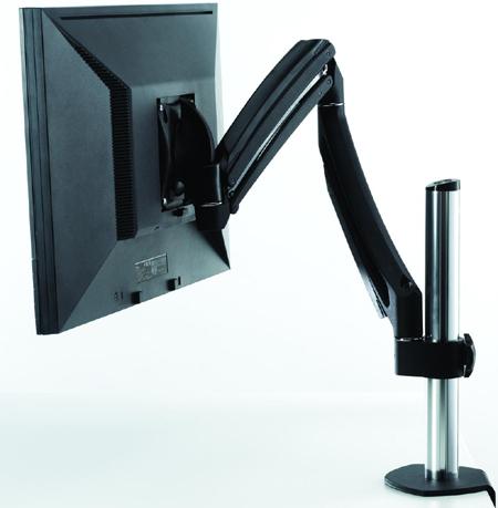 Chief K1C100B or K1C100S KONTOUR Dynamic Column Desk Clamp Mount for Single Mount