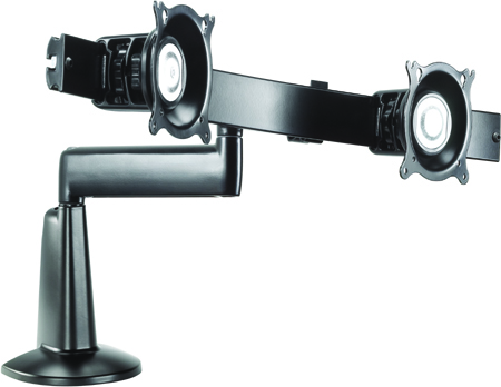 "Chief KCS220B or KCS220S Single Arm Dual Monitor Desk Mount for 10-24"" Displays"
