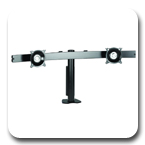 "Chief KTC225B or KTC225S Widescreen Dual Monitor Horizontal Desk Clamp up to 35"" LCD Mount Arm"