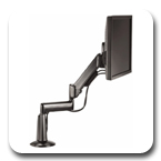 Chief KCG110B or KCG110S Desk Mount Height Adjustable Flat Panel Dual Arm