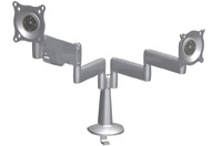 Chief KCY210S Desk Mount Dual Monitor Height Adjustable LCD Arm Silver
