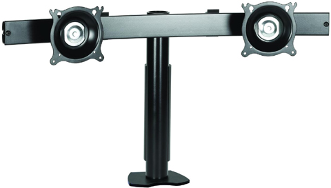 Chief KTC220B Clamp Desk Mount Flat Panel Dual Horizontal Monitor Arm Black