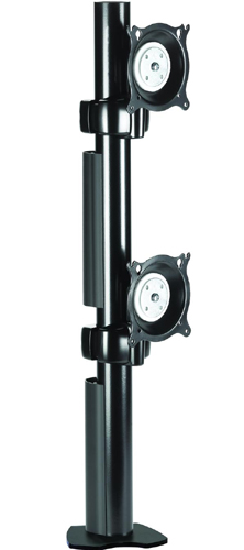 Chief KTC230B Clamp Desk Mount Flat Panel Vertical Dual Monitor Arm