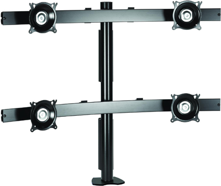 Chief KTC445B Desk Clamp Mount Flat Panel Widescreen Quad Monitor Arm Black
