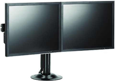 Chief KTG220B Grommet Desk Mount Flat Panel Dual Horizontal Monitor LCD Arm with screens