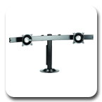Chief KTG225B or KTG225S Desk Grommet Mount Widescreen Dual LCD Monitor Arm