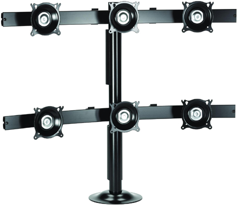 Chief KTG330 Grommet Desk Mount Flat Panel Six Monitors LCD Arm