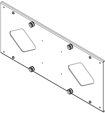 Chief MSB6015 Flat Panel Custom Interface Bracket for 30 to 50 inch Displays