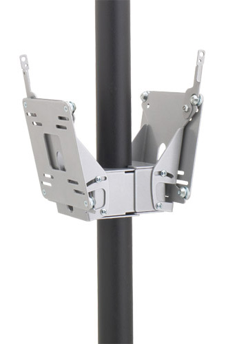"Chief FDP4101B or FDP4101S Small (10""-30"") Dual Display Pole Mount"