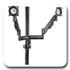 "Chief KPY220B or KPY220S Height Adjustable Dual Arm Pole Mount for Dual Monitors (10""-30"")"