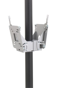 Chief FDP4100B Dual Display Pole Mount Black