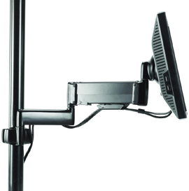 Chief KPG110S or KPG110B Pole Mount Flat Panel Height Adjustable Dual Swing LCD Arm