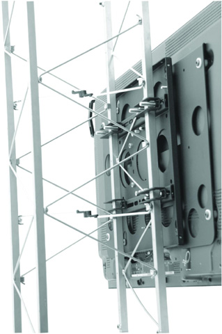 "Chief TPS-2000B Large (42""-71"") Fixed Truss and Pole Mount (without interface)"