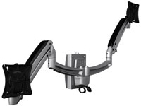 Chief K1S200B or K1S200S KONTOUR Dynamic Height Adjustment Slat Wall Mount for Dual Monitors