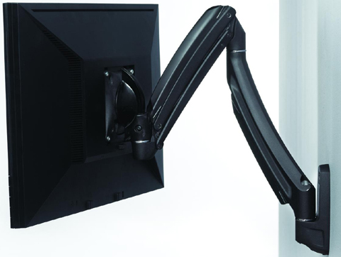 Chief K1W100B or K1W100S KONTOUR Dynamic Height Adjustment Wall Mount for Single Monitor