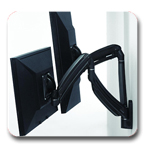 Chief K1W200B or K1W200S KONTOUR Dynamic Height Adjustment Wall Mount for Dual Monitors
