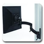 Chief K2W100B or K2W100S KONTOUR Dual Arm Wall Mount for Single Monitor