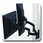 Chief K2W200B or K2W200S KONTOUR Dual Arm Wall Mount for Dual Monitors