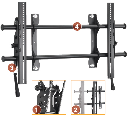 "Chief LTAU FUSION Universal Flat Panel Tilt Video Wall Mount 37""-63"" Displays"