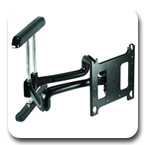 Chief PDRUB or PDRUS Wall Mount Universal Flat Panel Dual Swing Arm
