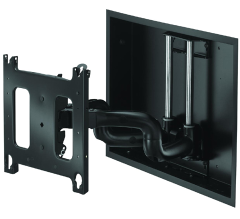 Chief PNRIW2000 Large In-Wall Swing Arm Wall Mount Black