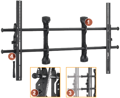 "Chief XTMU FUSION Flat Panel Micro Adjustable Tilt Video Wall Mount (55""-75"")"