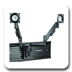 Chief KSY220B or KSY220S Slat Wall Height-Adjustable Dual Monitor Mount