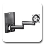 Chief KWDSK110B or KWDSK110S Wall Mount Single Steel Stud Monitor Arm