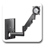 Chief KWGSK110B or KWGSK110S Wall Mount Height-Adjustable Steel Stud Monitor Arm