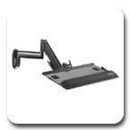 Chief KWK110B Height Adjustable Keyboard Wall Mount