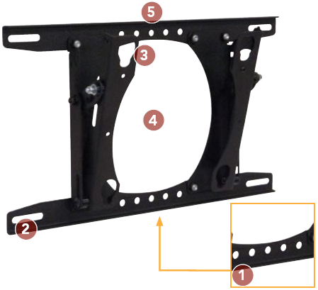 Chief MTRU Tilting Wall Mount for 30 to 50 inch Flat Panel Displays