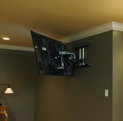 Application of Chief PDRUB Wall Mount Universal Flat Panel Dual Swing Arm black