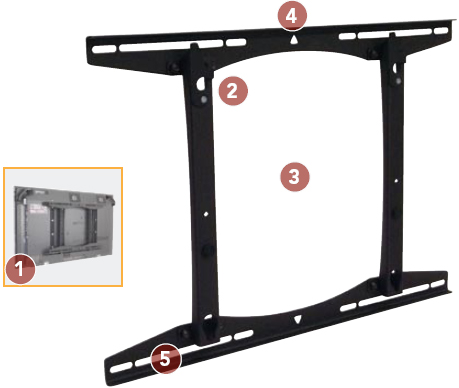 Chief PSTU Fixed Wall Mount for 37 to 65 inch Flat Panel Large Displays