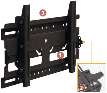 Chief RMF1 Medium Flat Panel Universal Fixed Wall Mount up to 40 inch Displays