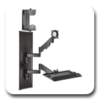 Chief KWT110B or KWT110S All-In-One Monitor Workstation Mount