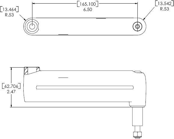 Technical Drawings for Chief KSA1003 Extension Arm